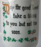 ST PATRICKS DAY IRISH COFFEE CUPS MUGS w/ SAYINGS