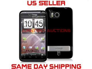 Black TPU Rubber Case Cover HTC Thunderbolt 4G