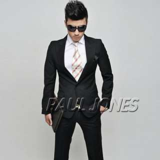 PJ Men's Fashion Stylish Slim Fit One Button Wedding Suit 2pcs Nwt