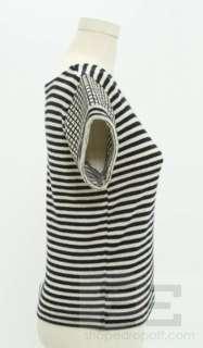 Missoni 3pc Navy & White Shirt, Striped Sweater & Diamond Skirt Set