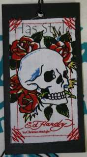 Ed Hardy T Shirt King Skull Audigier crown XL NWT