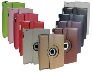 SELLING FAST iPad 2 Green Magnetic Leather Case rotating stand
