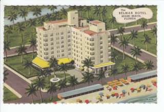 edge view of the Hotel Belmar, Miami Beach Florida. 1946 Curteich