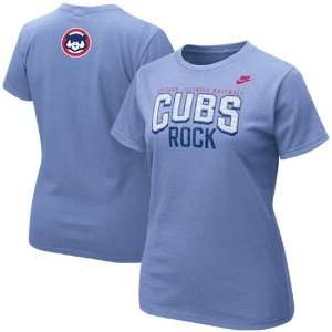 Nike Chicago Cubs Ladies Light Blue Cooperstown Rock T