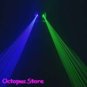 Lens Green+Blue 450nm Laser Stage Disco Lighting DJ Party Show Light