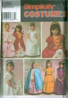 OOP Kids Girls Simplicity Storybook Fairy Tale Costume Sewing Pattern