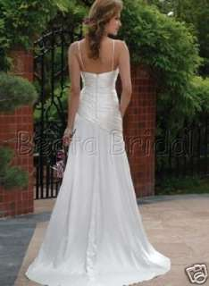 Custom Satin Elegant WEDDING DRESS/GOWN/PROM BRIDE Z054