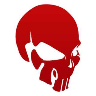 Helmet Car Window Decal Sticker punisher Skull ZE528