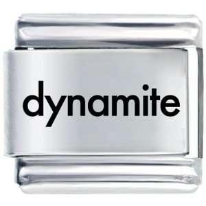 Black Dynamite Text Italian Charms Bracelet Link