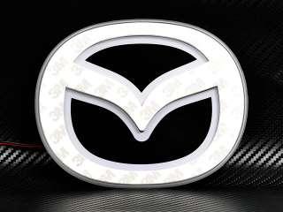 Car Front Badge Logo Light Emblem Mazda 3 09 RED Tint