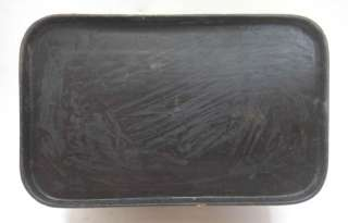 antique EARLY PA DUTCH FOLK ART PAINTED TIN w/LID~BIRD