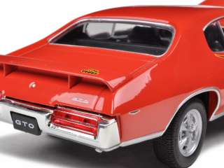 1969 PONTIAC GTO JUDGE ORANGE 124 DIECAST CAR MODEL