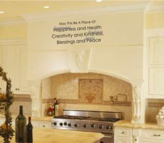 Place Of Happiness Health Kitchen Vinyl Wall Word Art