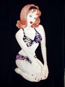 vintage DRAGONFLY retro BIKINI GIRL ~ HAWAIIAN BOWLING SHIRT ~ NWT