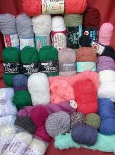 Yarn Lot Wool Blends Bernat Red Heart Reynolds Patons Great Colors NR