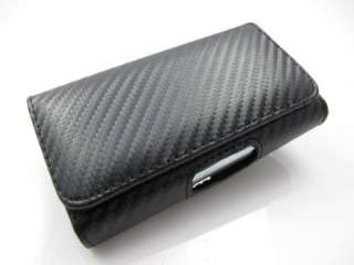 CARBON FIBER FABRIC LEATHER POUCH CASE COVER APPLE IPHONE 4 4S PHONE