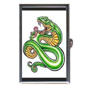 Snake Monster Tattoo Scary Coin, Mint or Pill Box Made in USA