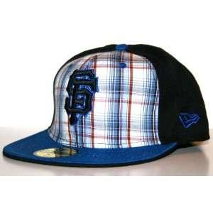 San Francisco Giants Blue Plaid Hat New Era 5950 MLB Cap