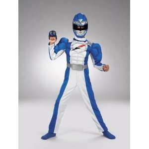 Blue Ranger Costume Quality Muscle Boys Size 10 12 Toys