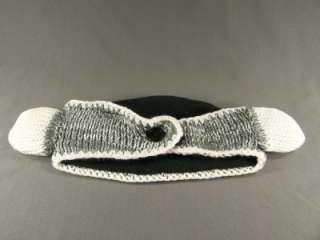 animal face knit ear warmer muff head wrap hat headband fleece
