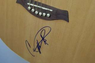 CARRIE UNDERWOOD Autograph Natural Copley Acoustic Guitar COA signed