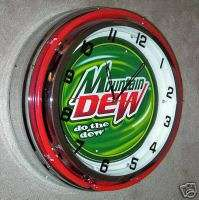 Mountain Dew Logo Double Neon Clock 18 Sign Store