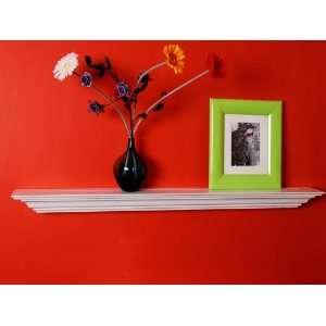 Inch x 5.25 Inch Corona Crown Molding Wall Shelf White