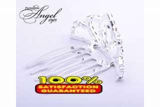 New Tiara Wedding Circular Rhinestone Crown Comb Hair Mini Clip Bridal