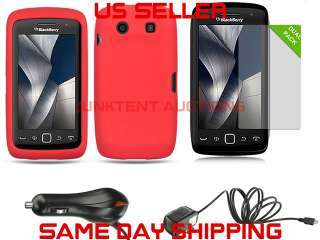 Case+2 LCD Covers+Car & Home Charger Blackberry Torch 9850 9860