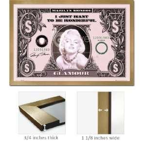 Gold Framed Marilyn Monroe Be Wonderful Money Poster