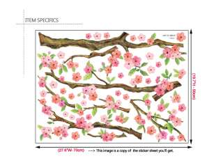 CHERRY BLOSSOMS II   DIY Decorative Wall Sticker Decals