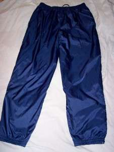 size L Adidas Lined all weather Running, Exercise, Navy Blue Gym Pants