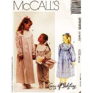 ~ Childrens and Girls Sleepwear, Booties and Doll ~ Sewing Pattern