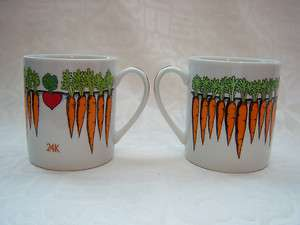 Takahashi San Francisco   24 Carrot Coffee Mugs (2)