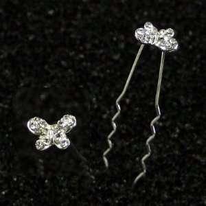 Bridal Wedding Beautiful Elegant Crystal Small Butterfly Pattern Hair