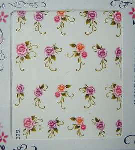 Sheets Flowers Design Nail Stickers SL8