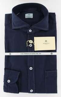 New $425 Borrelli Navy Blue Shirt 15.5/39