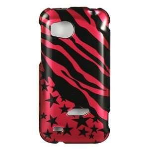 HTC Vigor 6425 Graphic Case   Hot Pink Zebra Star (Package