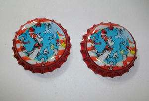 Dr Seuss Characters Red Bottle Caps