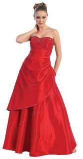 SWEETHEART NECKLINE STRAPLESS LONG FORMAL SWEET 16 DRESS PLUS SIZES