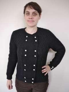 SCOTT Scottish SHETLAND WOOL Cable Knit Sweater CARDIGAN 34
