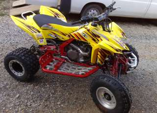SUZUKI LTR 450 R GRAPHIC FLAME ATV QUAD WITH SEAT COVER