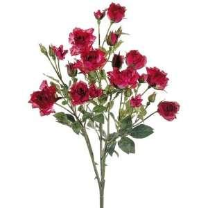 Faux 21 Suzie?s Rose Bush Two Tone Crimson (Pack of 12