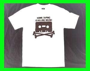 Home Taping T SHirt TAPE SKULL cassette dead kennedys