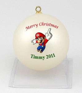 Personalized Super Mario Christmas Ornament & FREE Gift box