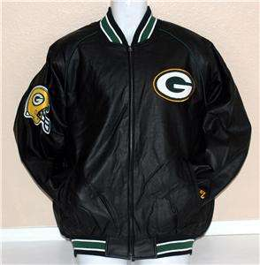 GREENBAY PACKERS NFL Superbowl Champ PU Leather JACKET M L XL 2XL NWT