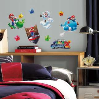 Super Mario Galaxy 2 Peel And Stick Wall Decal Set *New*