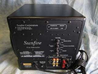 Sunfire True Subwoofer Sub Home Audio 10 Speaker