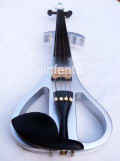 New silver 4/4 Electric violin Nice sound High quality yellow White