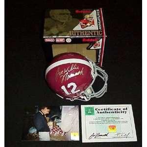 Joe Namath Alabama Crimson Tide Autographed Mini Helmet
